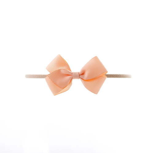 Small London Bow Soft Hairband - Petal Peach