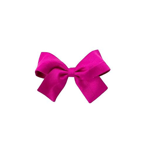 Small Paris Bow - Fucshia  Silk Taffeta