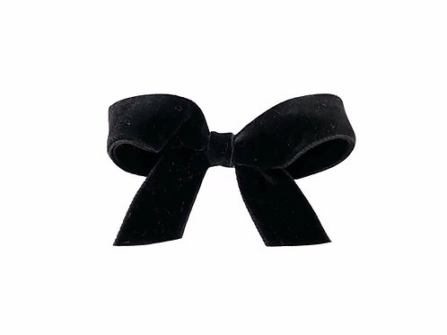 Medium Velvet Bow - Black