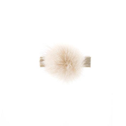 Medium Mink Puff Clip - Light Beige