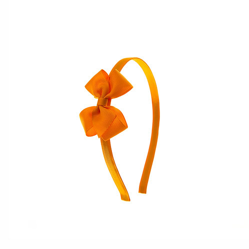Small London Bow Hairband - Tangerine