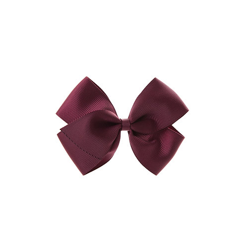 Medium London Bow - Burgundy