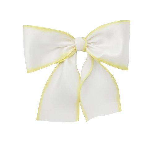 Oversized Silk Bow - Lemon Meringue
