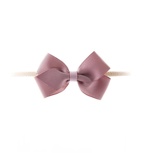 Small London Bow Soft Hairband - Cameo