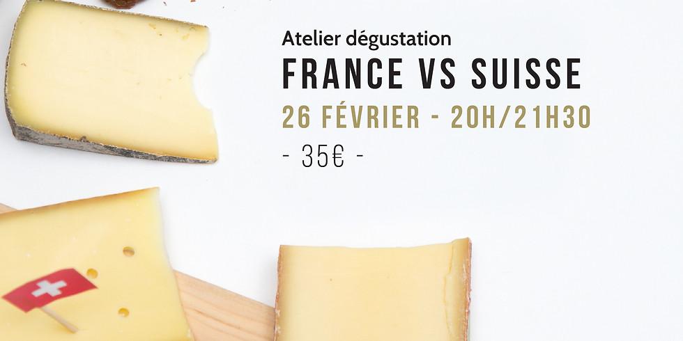 Atelier dégustation Fromage - France VS Suisse