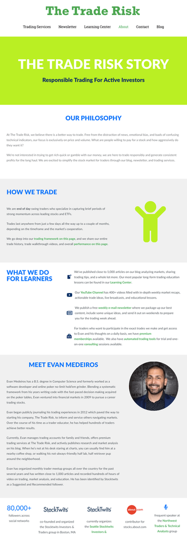 The Trade Risk About Page
