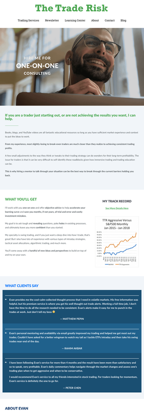 The Trade Risk Consulting Page