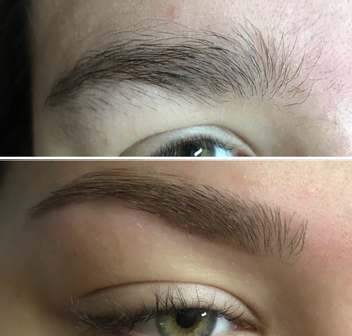 Eyebrows Before and After by AnneMarie Lorenzini