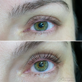 Lash Lift Before and After by AnneMarie Lorenzini
