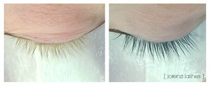 Before and After Lash Tint by AnneMarie Lorenzini
