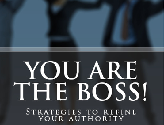 You Are The Boss! Book