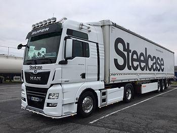 Transport Transports camion Steelcase Jung benestroff MAN