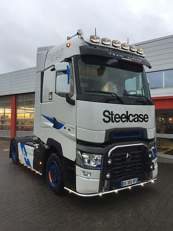 Transport camion Steelcase Jung benestroff Transports