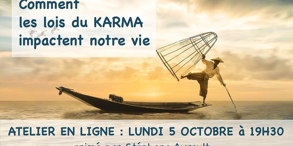 Atelier en ligne : Comment les lois du KARMA impactent votre vie !