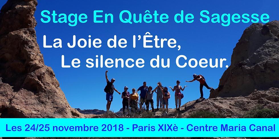 """Week-end """"En Quête de Sagesse"""" - Joie, Santé et Pleine Conscience"""