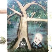 Indigo and the tree
