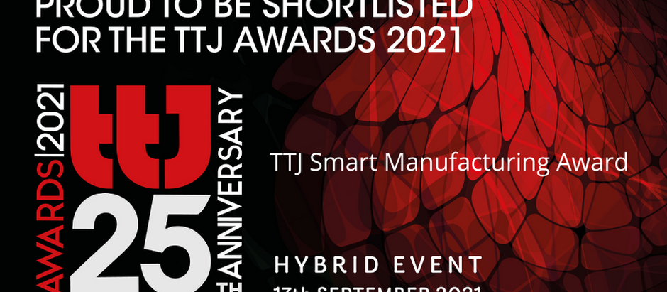 Shortlisted for the TTJ Smart manufacturing award 2021