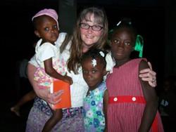 Sue Rife with Kids in Haiti