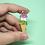 Thumbnail: Genderqueer Cone Enamel Pin