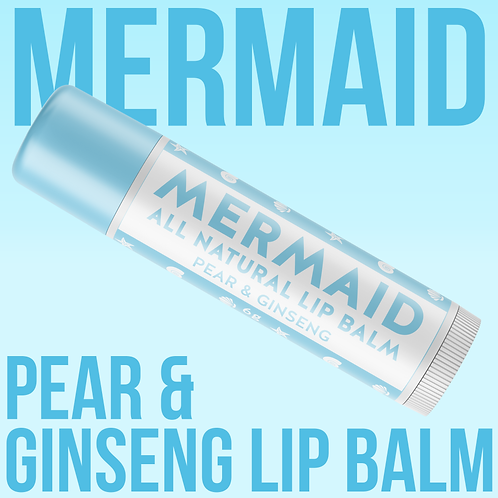 Mermaid Vegan Lip Balm - Pear & Ginseng