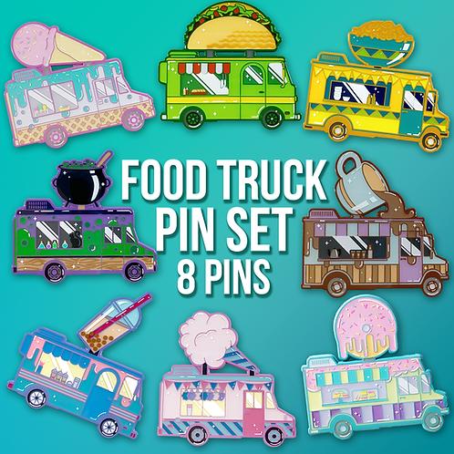 Food Truck 8 Enamel Pin Pack