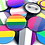 Thumbnail: Pride Flag Pinback Buttons 1.25""