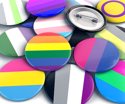 Pride Flag Pinback Buttons 1.25""