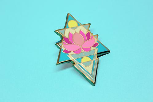 Sky Lotus Enamel Pin