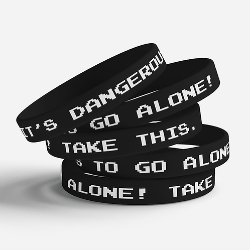 Dangerous to go Alone Silicone Bracelet