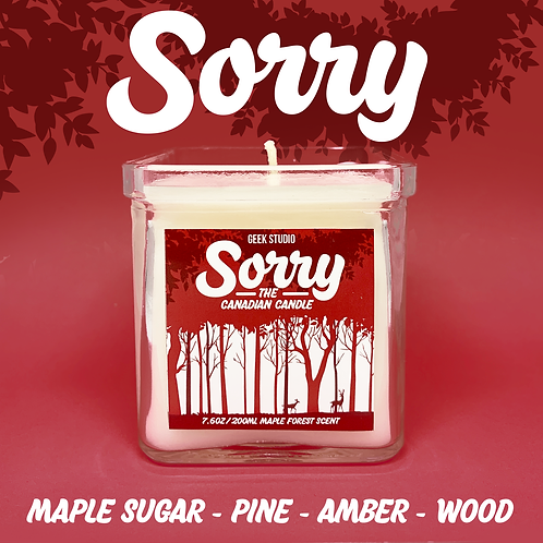 Sorry: The Canadian Candle - Maple Sugar, Pine, Amber