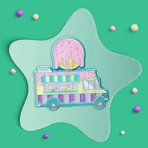Doughnut Truck Enamel Pin