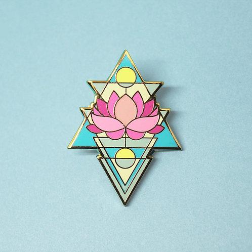 FLAWED Sky Lotus Enamel Pin