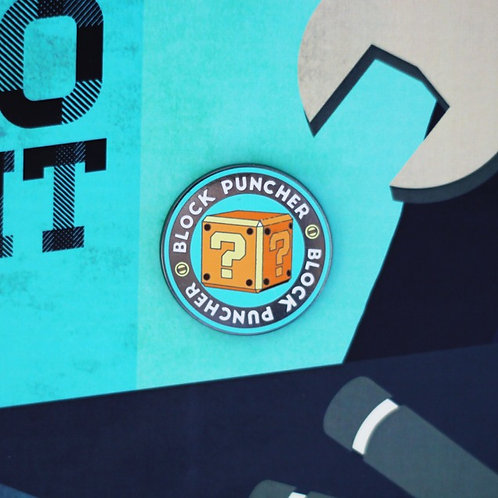 Block Puncher Achievement Enamel Pin