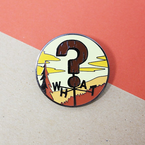FLAWED Weird Weather Enamel Pin