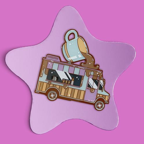 Coffee Truck Enamel Pin