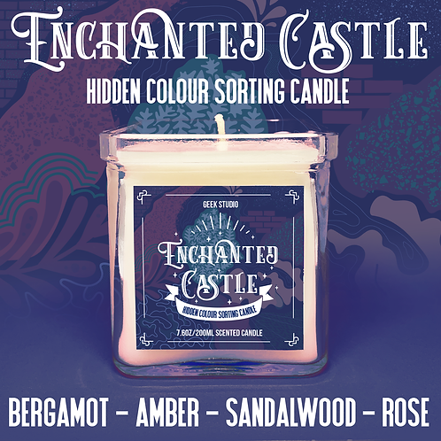 Enchanted Castle Sorting Candle - Bergamot, Amber, Sandalwood