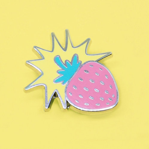 Strawberry Bomb Enamel Pin