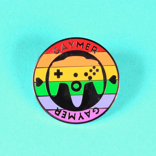 FLAWED Gaymer Enamel Pin - Original
