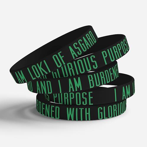 Loki of Asgard Silicone Bracelet