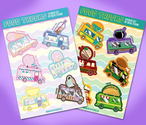 Food Truck Sticker Sheets