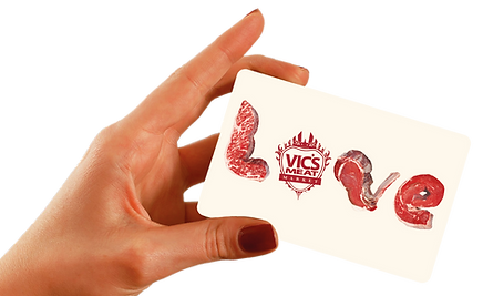 hand holding loyalty card