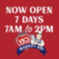 VMMD 2020 Instagram tile (Now open 7am-2