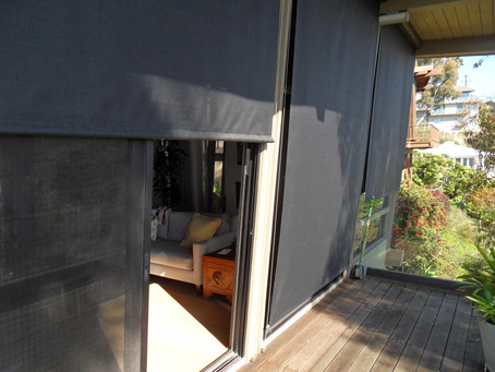Slanted External Rollershades