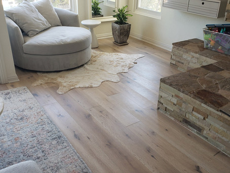 Wide Plank, Bleached Oak Hardwood Floors