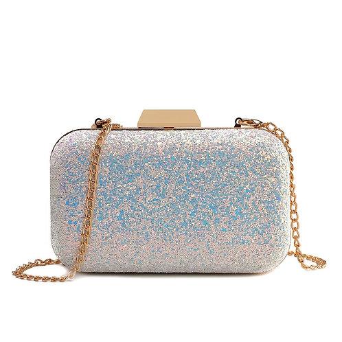 Winni iridescent box case clutch purse