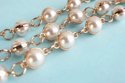 Removable pearl chain straps