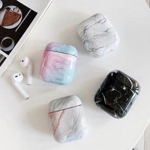 Sleek stone marble lucite perspex bakelite storage airpods case box