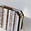 Thumbnail: Lynette retro look marble stripe details clutch box case shoulder bag