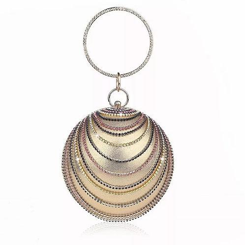 Vionet bracelet globe gatsby glam crystal round sphere box clutch bag purse