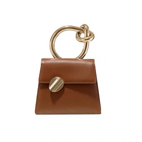 Rare MM3 Margiela look metal knot detail handle hand bag